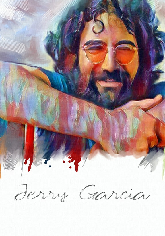 Jerry garcia - signed limited edition on canvas 18 X 24 inch. Mdjo Mdjo Van Der Wal