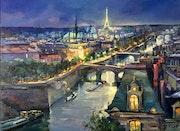 Paris la nuit ombres et lumières. R Ricart