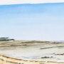 Le bout de la plage de la Cèpe à marée basse. Alain Croset
