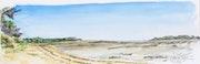 Le bout de la plage de la Cèpe à marée basse.