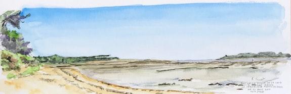 Le bout de la plage de la Cèpe à marée basse. Alain Croset Le Trembladais Alain Croset