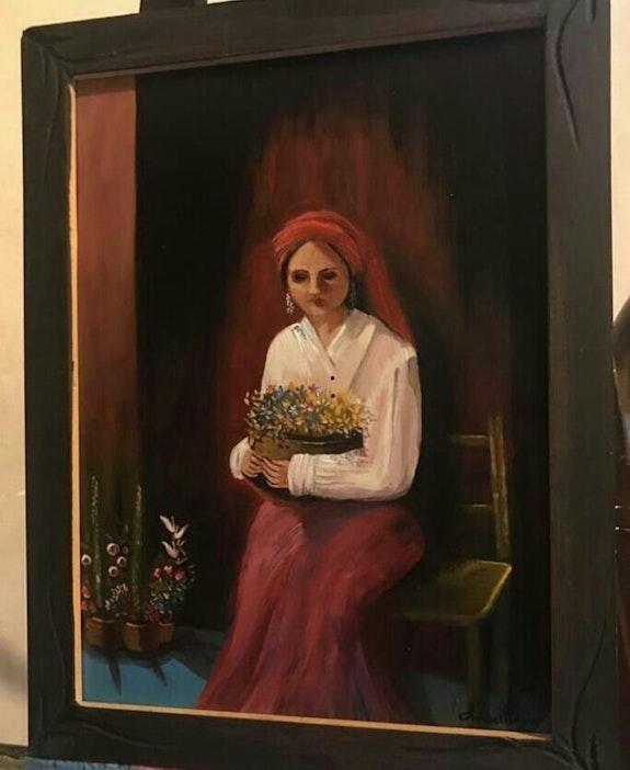Vendedora de flores de Valparaíso. Anabel Periz Anabel Periz