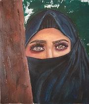 Women woth a veil.