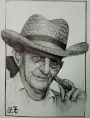 Retrato de Robaina.