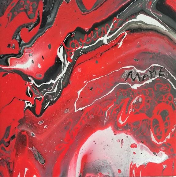 Pouring 16 - En rouge et noir. Michèle Truchot Mimi