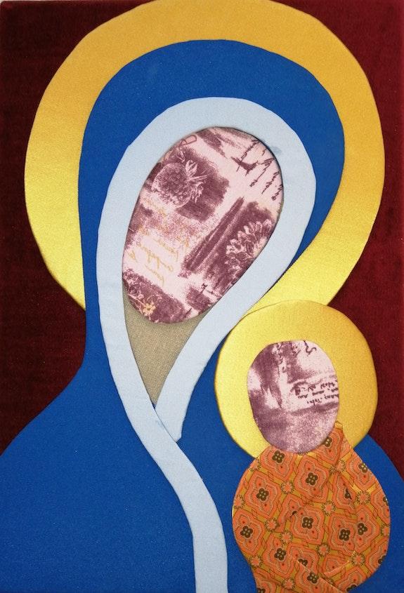 Virgin and child with golden auras. Pascal Boyer-Garcia Pascal Boyer-Garcia