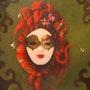 """""""Mardi Grau Lady Red"""". Cheryl Ann Hardy"""