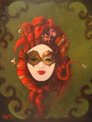 """Mardi Grau Lady Red""."