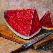 Juicy Watermelon - still life. Karine Andriasyan