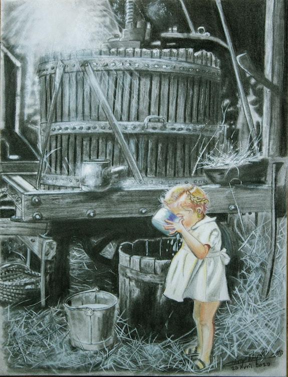 Le lait de Marguerite pour Daisy. Christian Leroy Napoli Monsieur