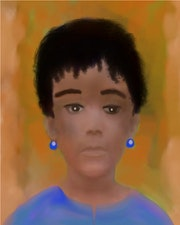 Jeune fille Haïtienne. Steeland (Autodidacte)