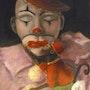 """""""Sad Clown & Friend oil on canvas. Cheryl Ann Hardy"""