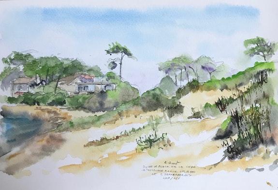 Dune e la plage de la Cèpe. Alain Croset Le Trembladais Alain Croset