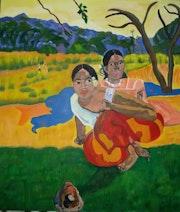Les Tahitiennes de Paul Gauguin.