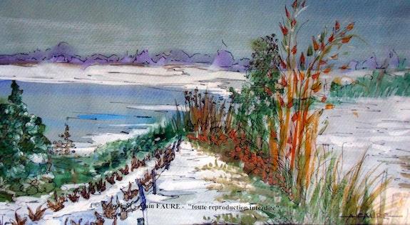 Le lac blanc. Alain Faure Alain Faure En Peinture