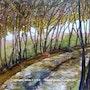 Chemin des dentelles. Alain Faure En Peinture