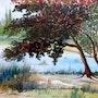 L'erable rouge. Alain Faure En Peinture