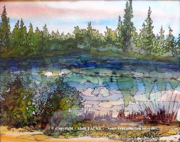 Apres l'orage. Alain Faure Alain Faure En Peinture