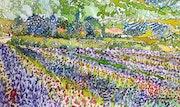 Route des fleurs. Alain Faure En Peinture
