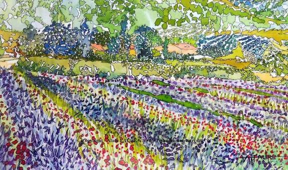 Route des fleurs. Alain Faure Alain Faure En Peinture
