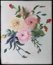 Drei Rosen.