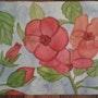 Fleurs, hibiscus.. Evelyne Patricia Lokrou