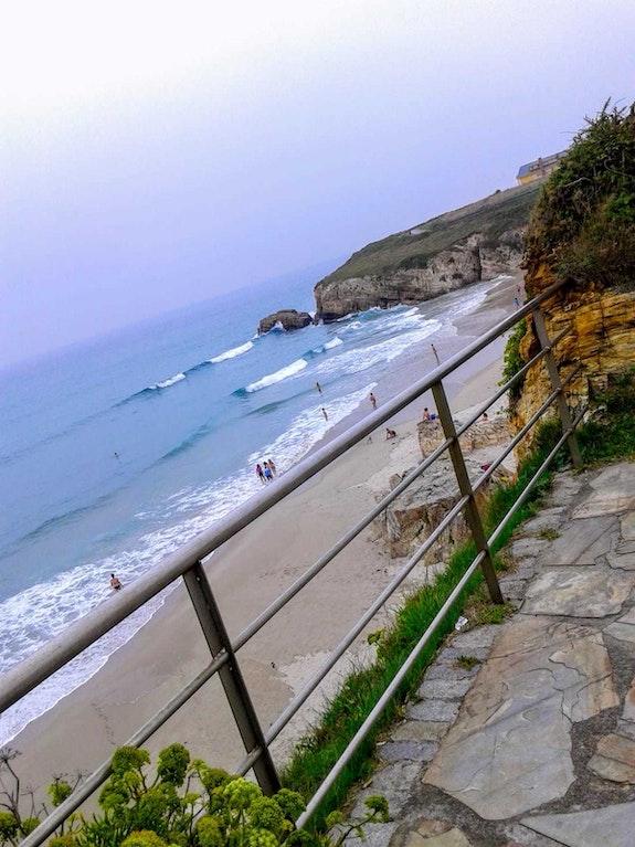 Playa en Barreiros, Lugo. M. Pilar M. Pilar