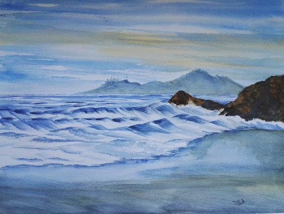 La plage. Michèle Truchot Mimi