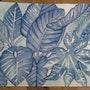 Grandes feuilles bleues. Evelyne Patricia Lokrou