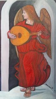 L'Ange rouge. Artiste Patricia Mazzeo