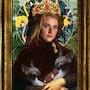 Portrait d'une femme et ses chats. Leslie Duranton. Métogo