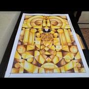 Tirupati balaji in abstract form.
