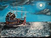 Sailbout or ship.