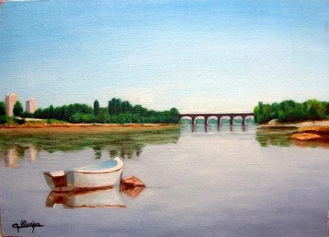 Pont de la Vendée sur la Loire. Michèle Ollivier Michèle Ollivier