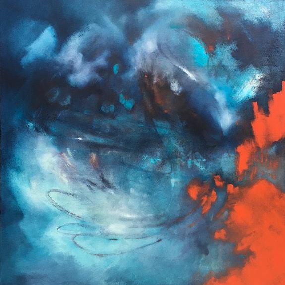 «Indigo» - huile et encre de Chine sur toile. Caroline Morcillo Caroline Morcillo