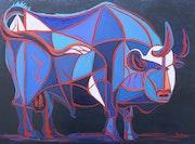 Le taureau (d'après Picasso). Régine Guthmann