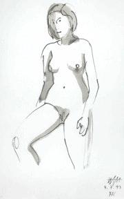 Female Nude # 3233 (1993). Hajo Horstmann
