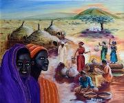 Afrique, la corvee d'eau.