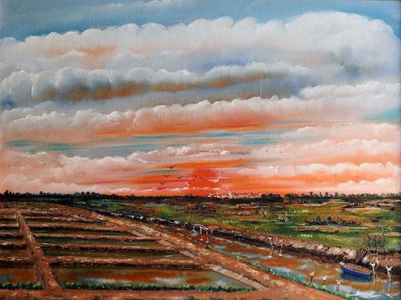 Coucher de soleil sur les marais d'oleron. Jean-Michel Masse Jean-Michel Masse