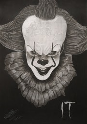 The joker  charcoal work. Nishit Patel