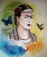 Portrait de Frida Kahlo.