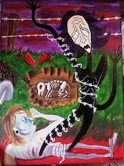 Autoportrait «la mort de Chipie».