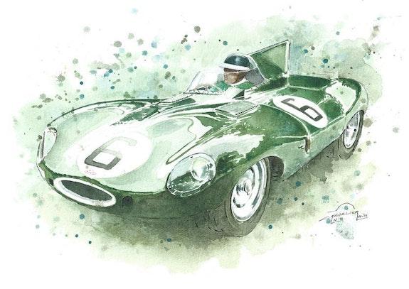 Jaguar Type D.. Nicolas Cancelier 1967