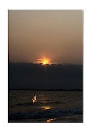 Le couchée du soleil et la sirène.