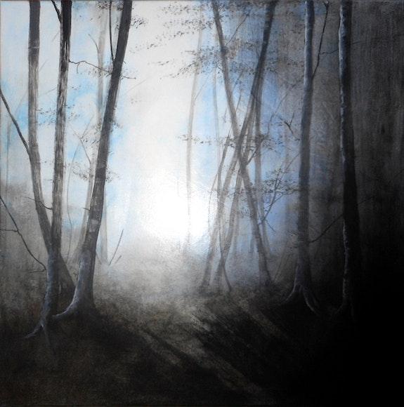 «Nouveau Jour»; Foret au lever du jour en Hiver.  Sophie Duplain