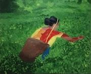 A lady in Tea plantation. Devendra Patel