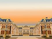 2019-09-24 Coucher de soleil sur le Château de Versailles.