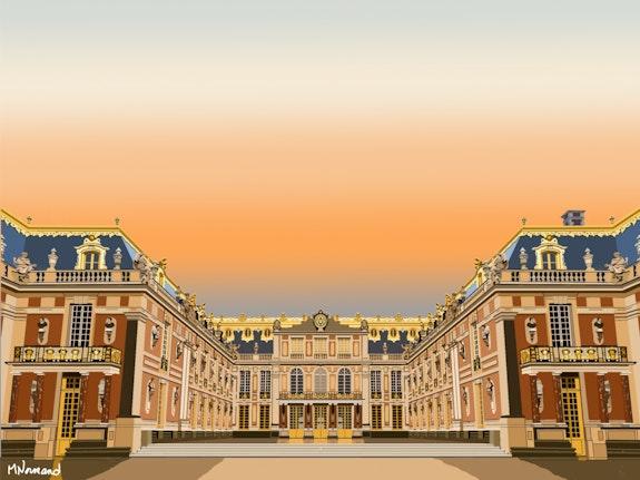2019-09-24 Coucher de soleil sur le Château de Versailles. Michel Normand Michel Normand