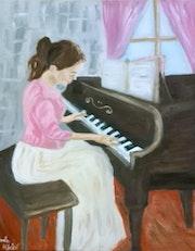 La Musique en Peinture: La Pianiste!.