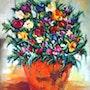 Centro flores. Marisol Usandegi